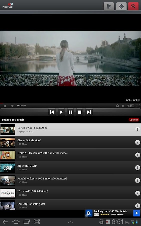 NextVid - YouTube player - screenshot