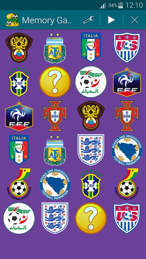 Βραζιλία 2014, Παιχνίδι Μνήμης - screenshot