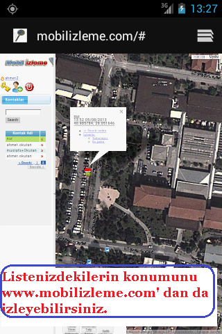 MobiTrack GPS Ailem Nerede - screenshot