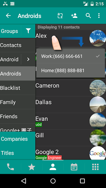 #2. DW Contacts & Phone & Dialer (Android)
