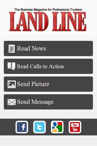 Land Line Magazine - screenshot