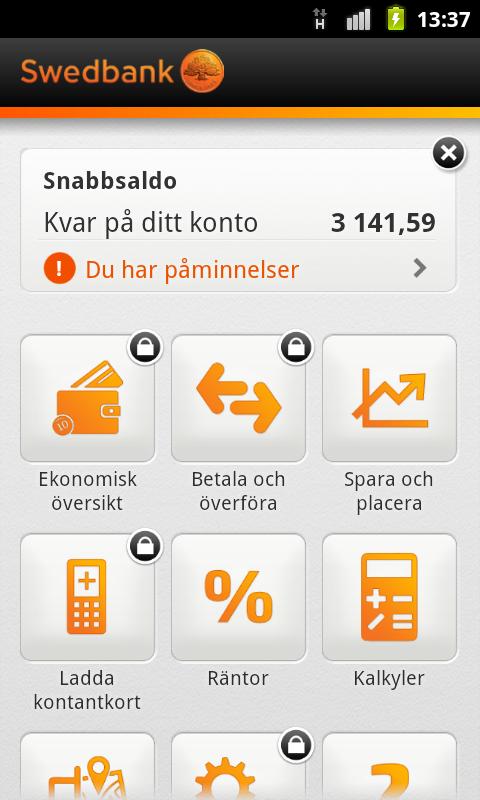 ta bort konto swedbank