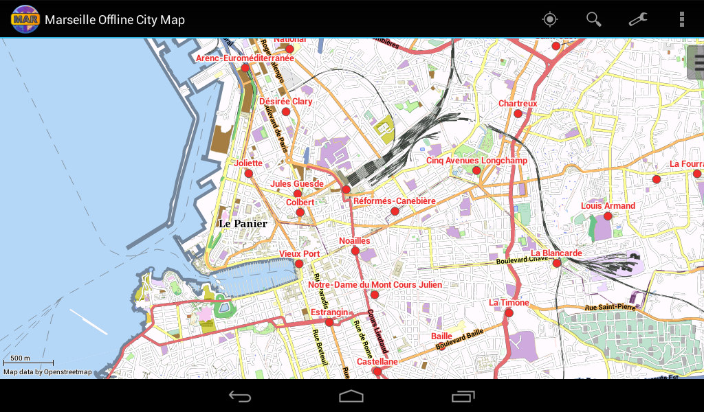 marseille offline city map android apps on google play. Black Bedroom Furniture Sets. Home Design Ideas