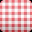 cute red plaid wallpaper ver89 icon