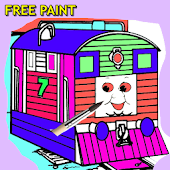 trains coloring