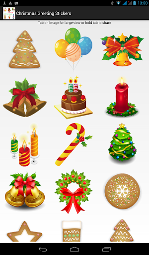 Christmas Greeting Stickers