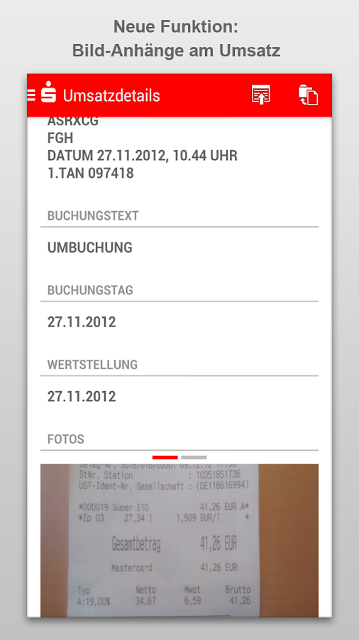 Sparkasse - screenshot