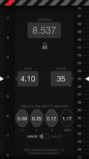 IPSC Tactical Calculator- screenshot thumbnail