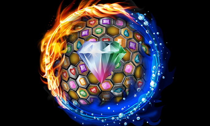Jewels Blitz Gold Hexagon screenshot