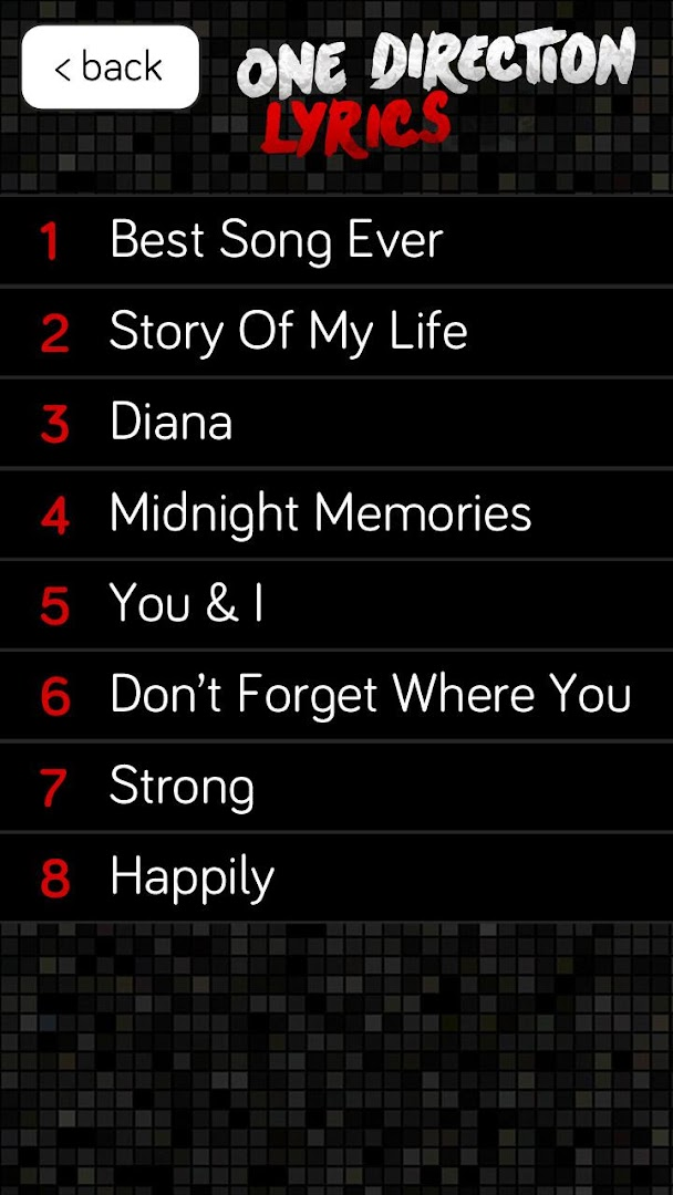 One Direction Lyrics - Google Play Store revenue & download ...