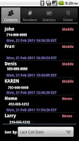 Screenshot of Call Log Organizer