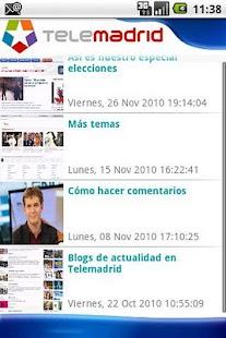 Telemadrid.es: miniatura de captura de pantalla