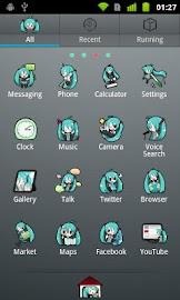 GO Launcher EX Theme -Miku- Screenshot 2