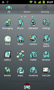 GO Launcher EX Theme -Miku- Screenshot 2