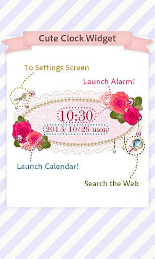 Cute Clock Widget 2 u3010FREEu3011 1.0.1 Windows u7528 2