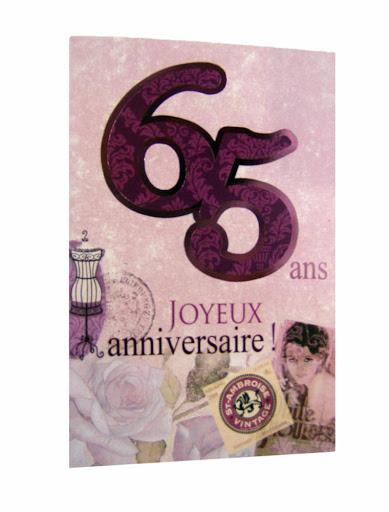 carte de voeux 65 ans