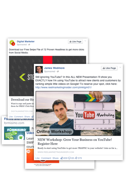 Videofruit Facebook Ad Templates Ripped From Your Timeline - Digital marketer facebook ad template