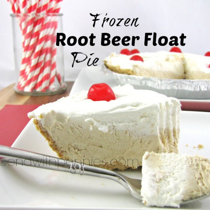Frozen Root Beer Float Pie