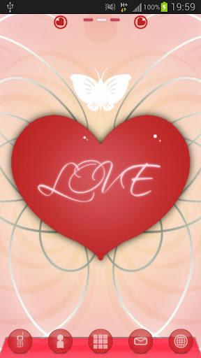 ロマンチックなランチャーEXのテーマをGO Launcher