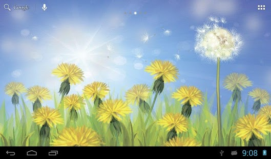 Dandelions field screenshot