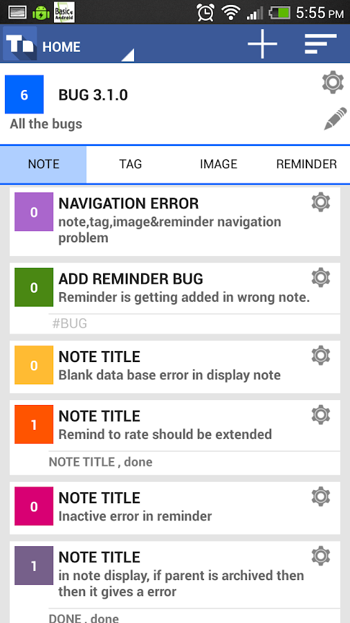 Tree Note ,Hierarchy Notepad- screenshot
