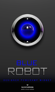 Blue Robot Poweramp Widget v.08-build-208 APK 1