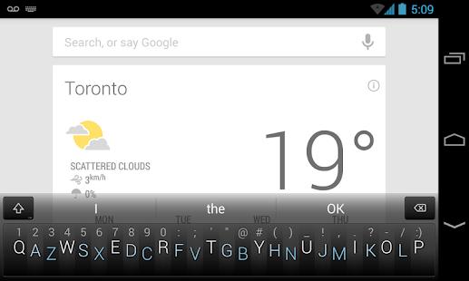 Minuum Keyboard - screenshot thumbnail