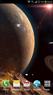 Planetscape 3D Live Wallpaper Screenshot