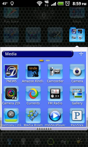 LC Aqua Theme Nova/Apex/Evie Launcher 1.05 screenshots 3