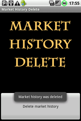 Google Play™ History Delete - screenshot