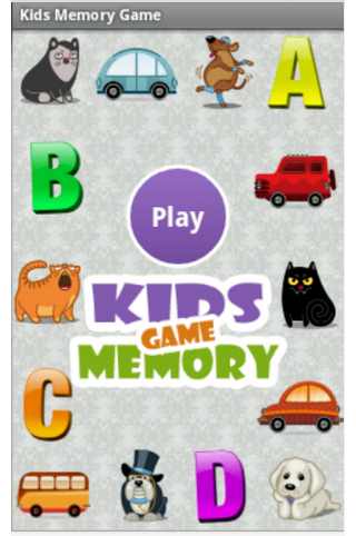 Kids Memory Game: Cartoons
