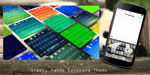 Sleepy Panda Keyboard Theme