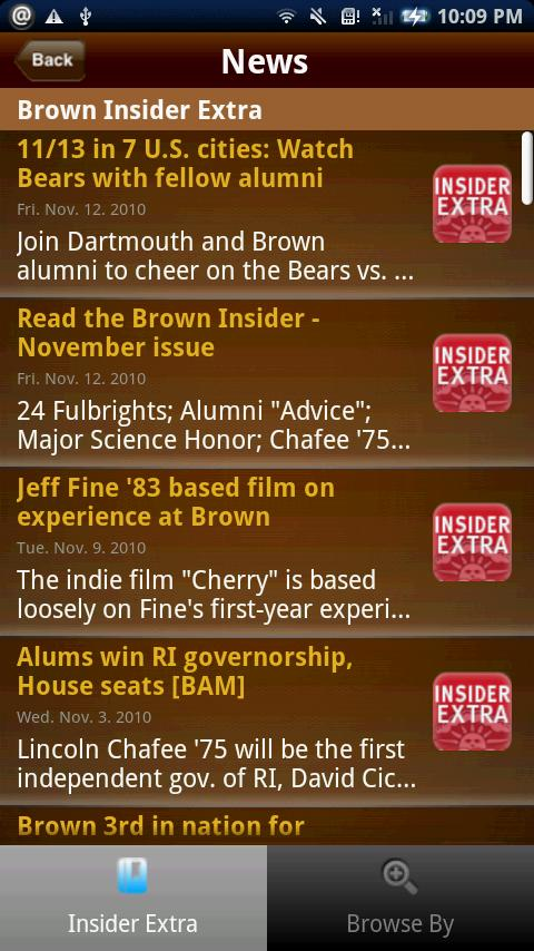 Brown Alumni (PLEASE UPGRADE) - screenshot