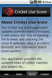 Cricket Live Score- screenshot thumbnail