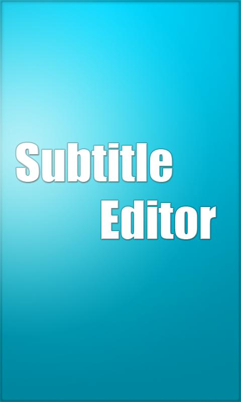 Subtitle Editor- screenshot