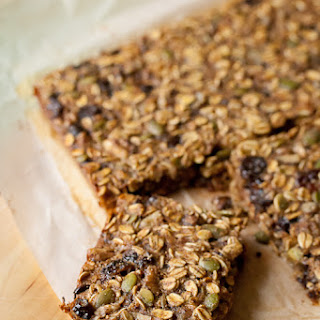 Cherry-Walnut Oatmeal Breakfast Bars.