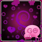GO SMS Pro Purple&Black Theme