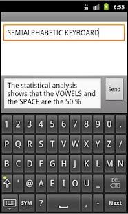 Fast SemiAlphabetical keyboard- screenshot thumbnail