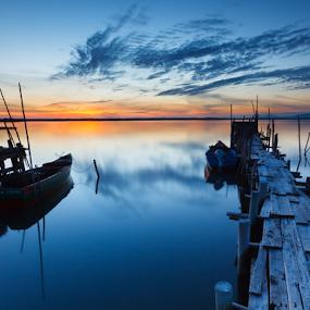 A New Horizon, A New Hope by João Freire - Landscapes Sunsets & Sunrises ( sky, nature, sunset, alentejo, boats, carrasqueira, travel, landscape, , reflection, bridge )