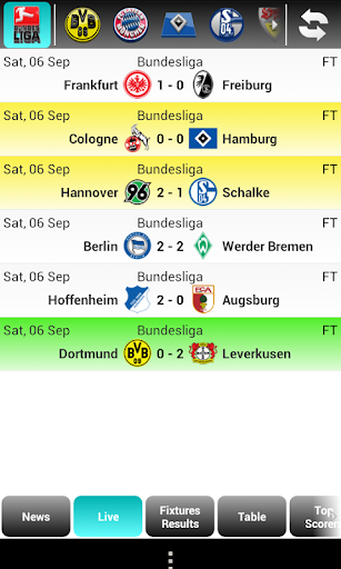 Bundesliga Live Score