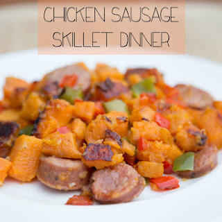 Sweet Potato and Chicken Sausage Skillet Dinner