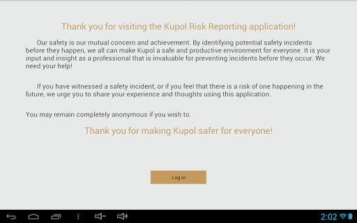 【免費生產應用App】Kupol Risk Reporting-APP點子