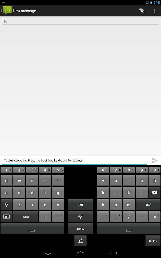 Tablet Keyboard Free- screenshot