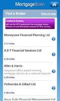 Screenshot of UK Mortgage Quote Finder