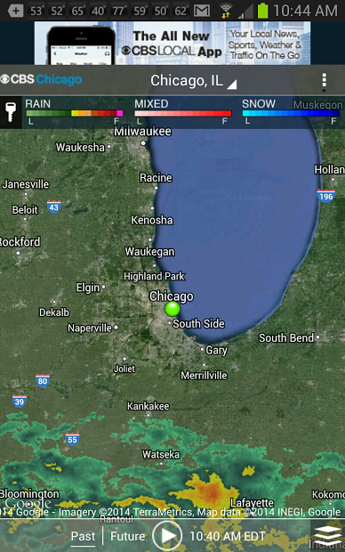 CBS Chicago Weather- screenshot