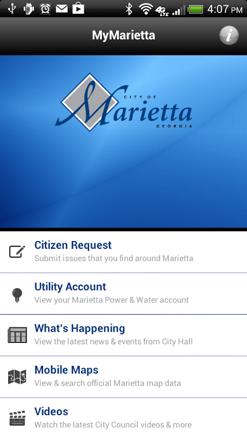 MyMarietta v2 - screenshot