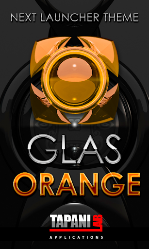 Next Launcher Theme g. orange