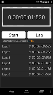 Stopwatch, countdown - screenshot thumbnail
