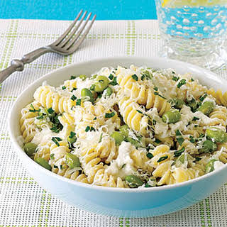 Pasta with Ricotta and Edamame.