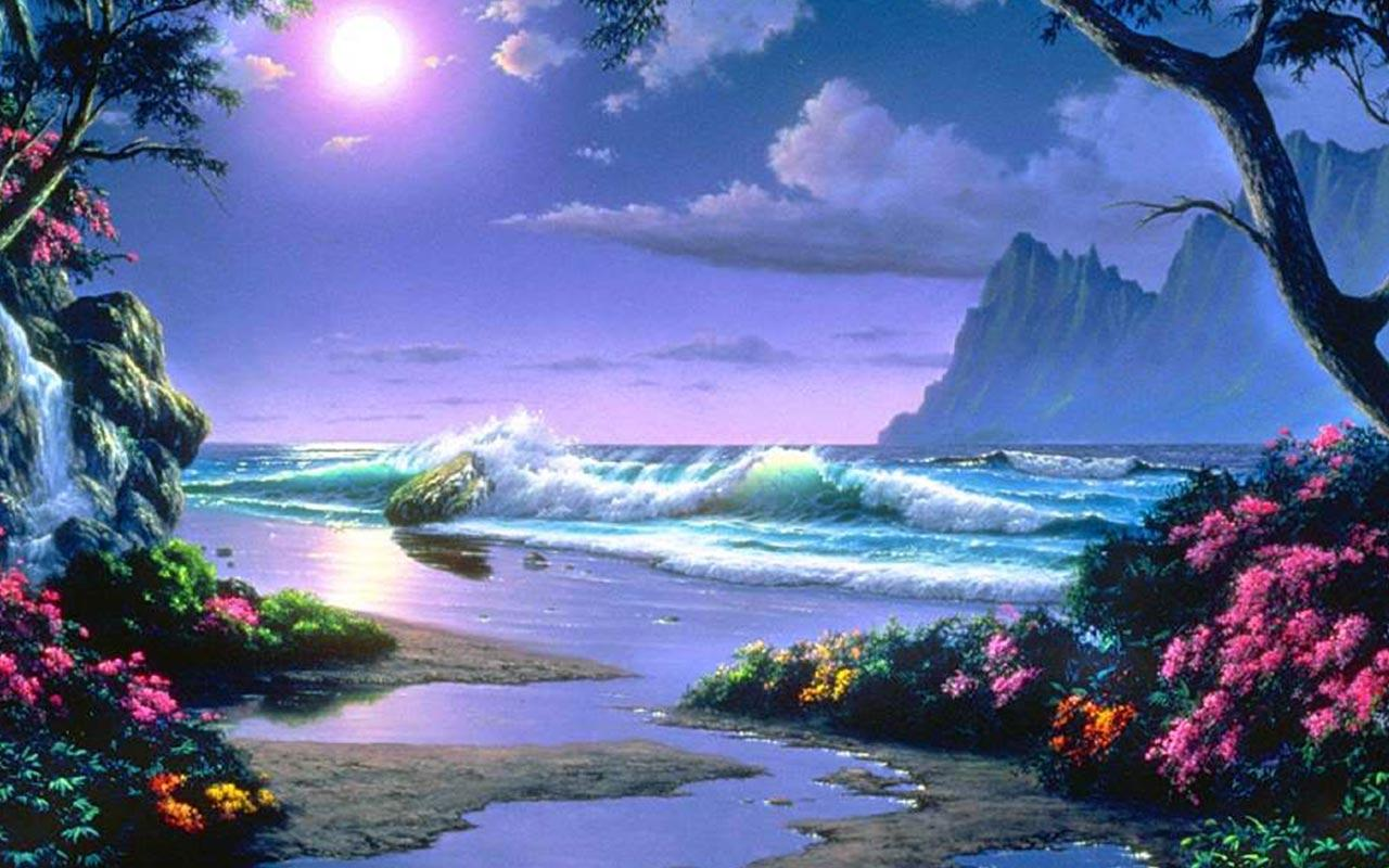 Paradise Live Wallpaper By Best Wallpapers Free Poster